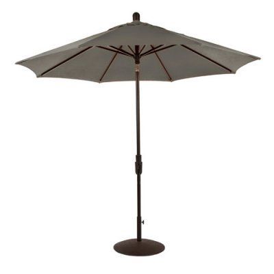 Amauri Outdoor Living Zuma Shore 9 ft. Round 360-Rotation Auto Tilt Aluminum Sunbrella Market Umbrella Graphite - 61213-101-CS21306