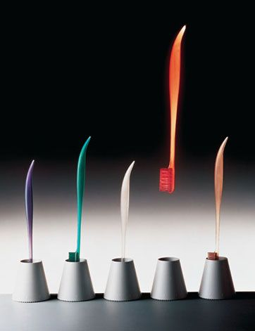Philippe Starck hoped his designs would improve people's lives by adding an element of humour and surprise to everyday acts such as brushing one's teeth or cooking.