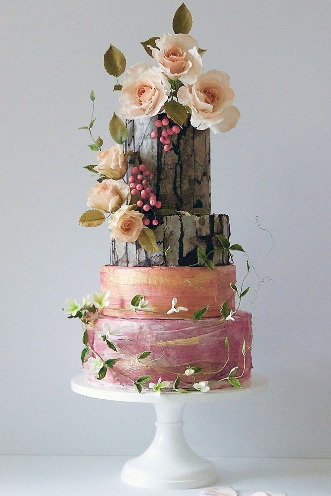 Must-See Rustic Woodland Themed Wedding Cakes ❤️ See more: http://www.weddingforward.com/woodland-themed-wedding-cakes/ #weddings #weddingcakes