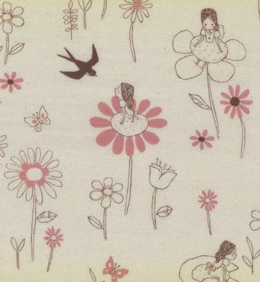 Japanese double gauze called The Princess and the Frog, by Kokka Fabrics