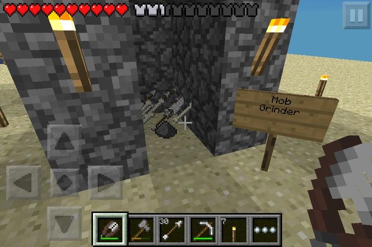 minecraft pe survival mob grinder