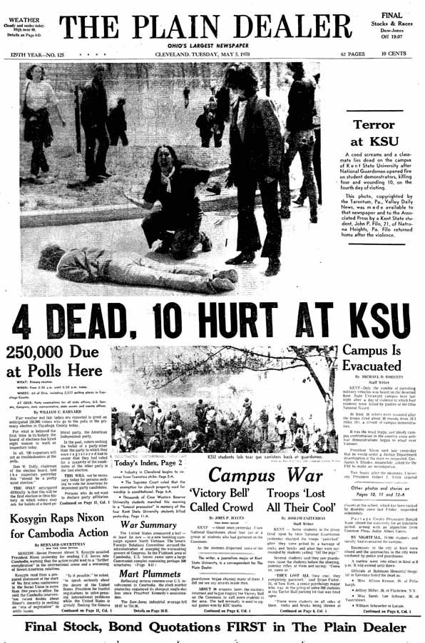 Kent State: Coming of age 40 years after May 4, 1970 shootings ...