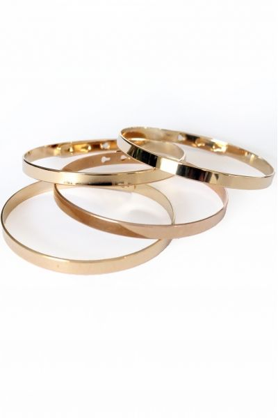 Bracelet jonc plaqué or réglable 3 positions