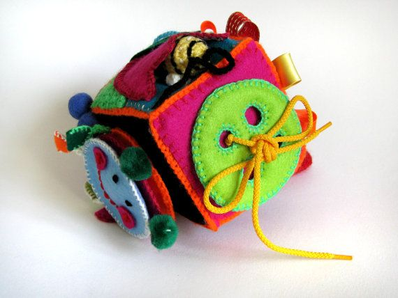 Activity Toy// Cubes// Fabric Cubes