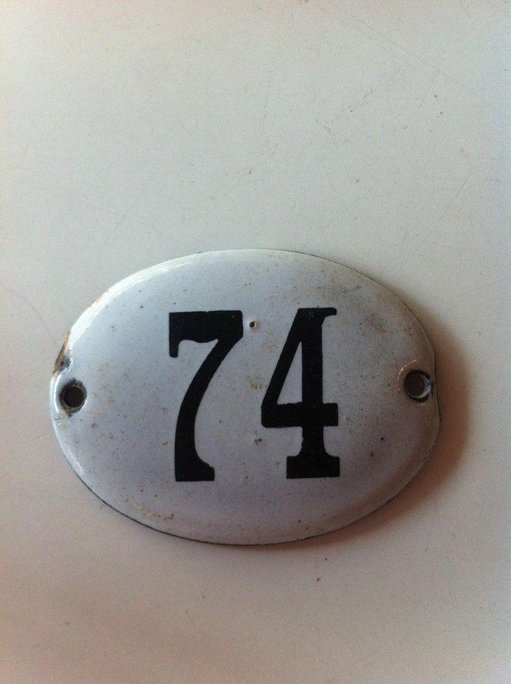 Image of Vintage Enamel House Numbers from the 50's era