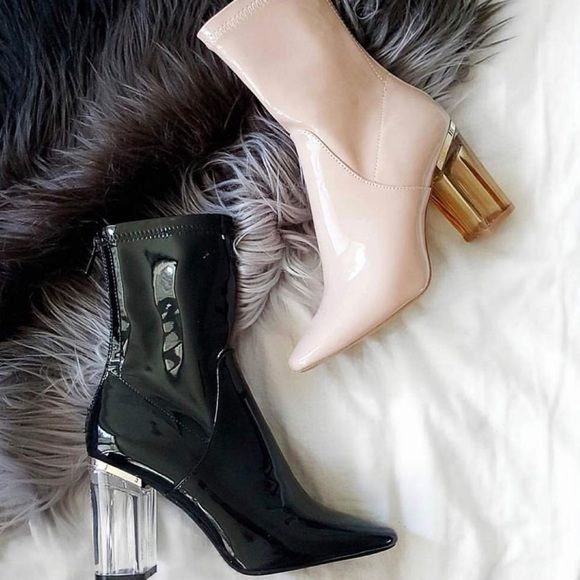 Patent Leather Booties Zara