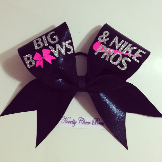 Black Big Bows Cheer Bow  Silver and Neon Pink by NoveltyCheerBows