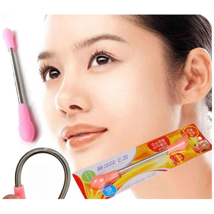 Facial Epilator Smooth Face Bend Spring Hair Removal Stick Epistick DIY Make Up Depilatory beauty micro spring trimmer face care