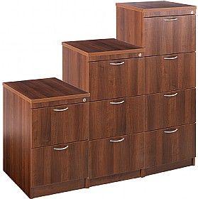 Marvelous Malbec II Walnut Filing Cabinets