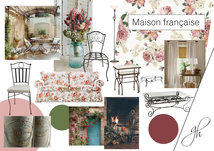 When I had to design a house in France, the first thign that came to my mind where the floral patterns, because they suggest the old opulence of this country. Discover how I used the floral patterns in this project, here: http://www.genovevahossu.ro/proiect-rezidenta-franta/#