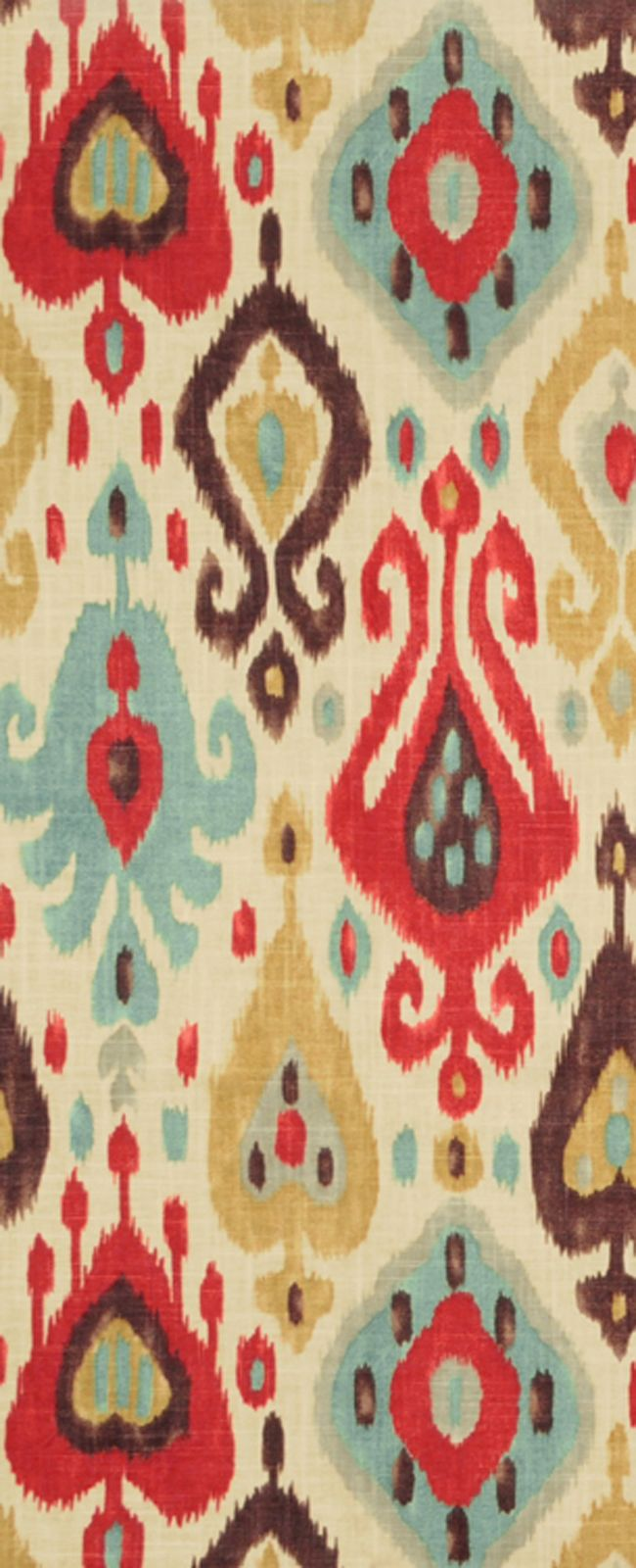 Fabric moreover teal ikat curtain panels on home decor fabric ikat - Red Blue And Brown Ikat Fabric Richloom Django Persia Fabric 19 00 Per Yard