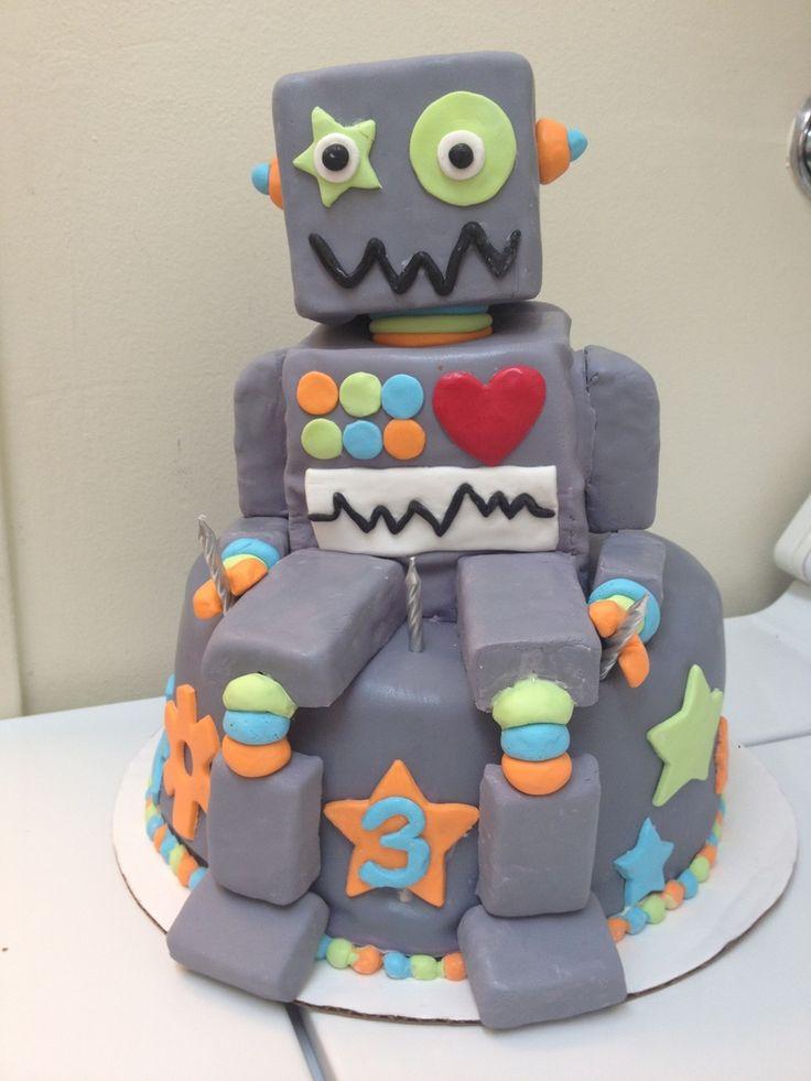 Best 25 Robot Cake Ideas On Pinterest Boys Birthday