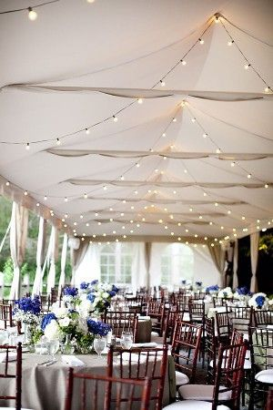 String lights. Use string lighting and festoon bulbs to create a romantic canopy or soft lighting above a dining area or dance floor.