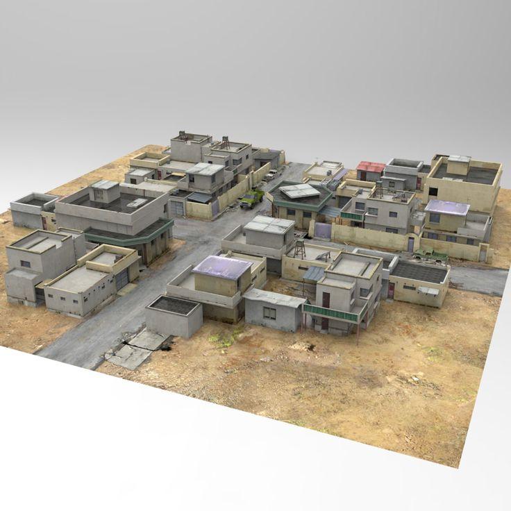 Smith Micro Poser 3D Model buildings town building desert Image02