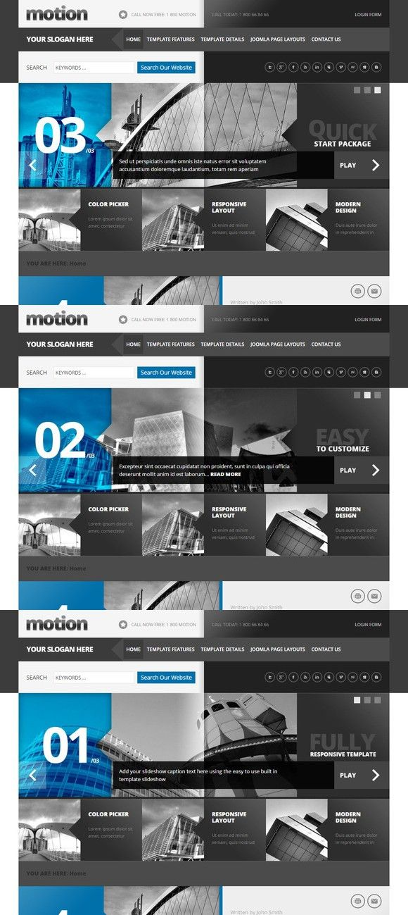 Motion Joomla Template . Joomla Templates. $39.00