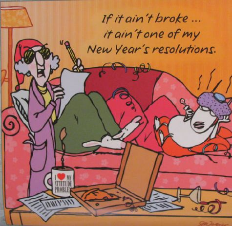 Maxine at New Years...