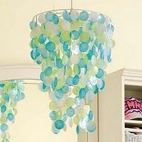 chandeliers!: Lights Fixtures, Color, Pbteen, Rooms Ideas, Capiz Chandeliers, Pb Teen, Teen Girls, Girls Rooms, Kids Rooms