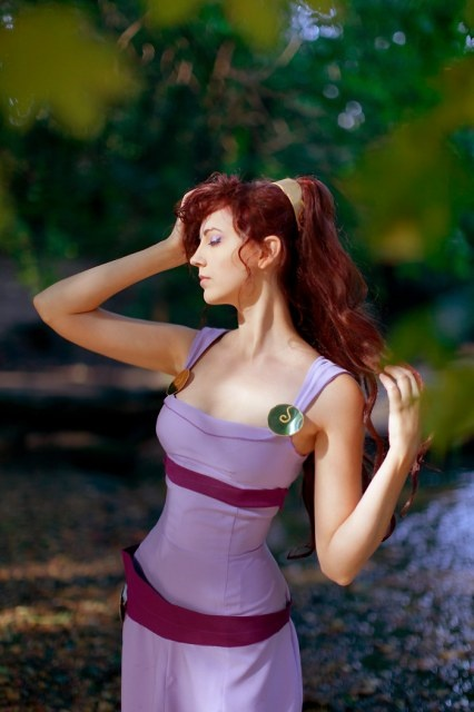 Megara (from Hercules) #cosplay I feel like Megara is a really hard character to pull off. Either you have to be really skinny, or you have to get the dimensions of the costume just right. If neither one is present, it ends up looking super weird. This one's great, though.