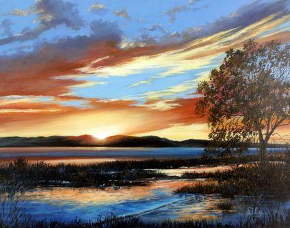 Summer Dusky Sky by Lily Adamczyk