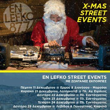 En Lefko 87.7 street events με ζωντανές εκπομπές!
