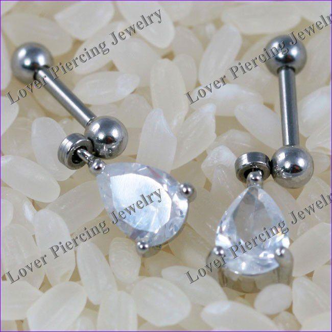 Tragus Ear Piercing | Tragus ear piercing halteres ss-b500-Jóias de aço inoxidável -ID do ...