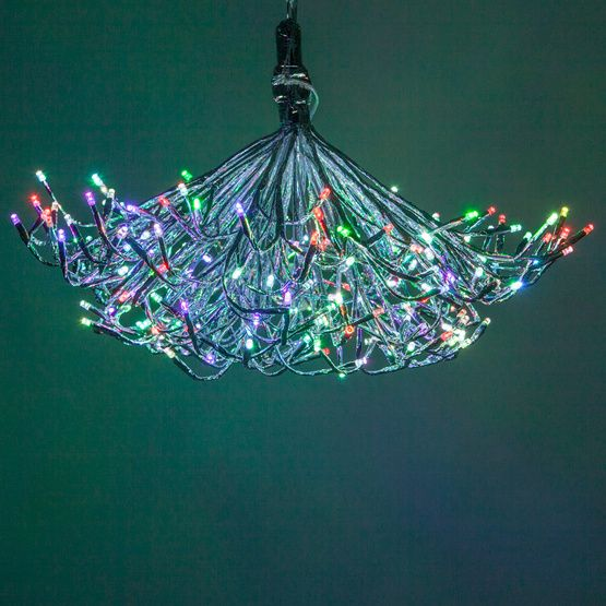 Silver Starburst Lighted Branches with Multicolor LED Color Change