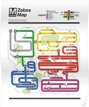 Metroid Metro - NES Maps Series Posters