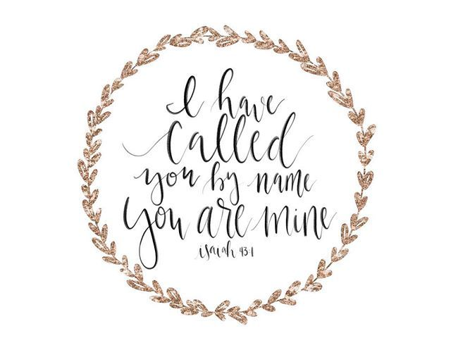 He has called you by name, and you are His. He knows you, He loves you, and calls you His own! #biblelettering #shepaintstruth #letteringHislove