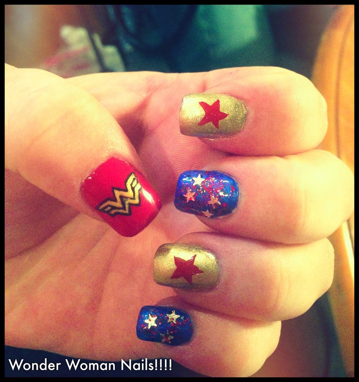 Nails Wonder Woman Can Nail Art Be Feminist: Ongles Wonder Woman