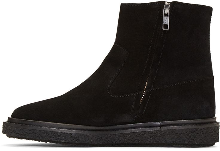 Isabel Marant - Black Suede Connor Creeper Boots $625