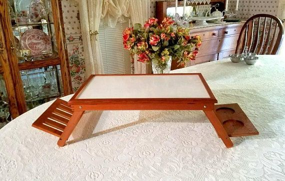 Vintage Wooden Lap Tray Breakfast In Bed Tray Vintage Lap Desk Wooden Lap Table Portable Desk Handicapped Bed Tray Computer Cool Beds Bed Tray Wooden Diy