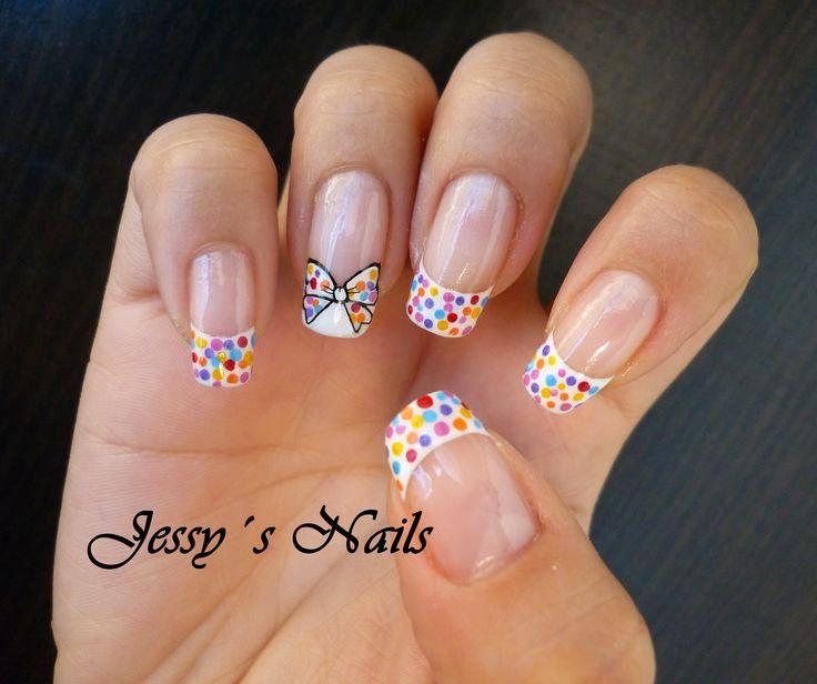 U as con frances y puntos de colores nail nailart u as - U as decoradas ...