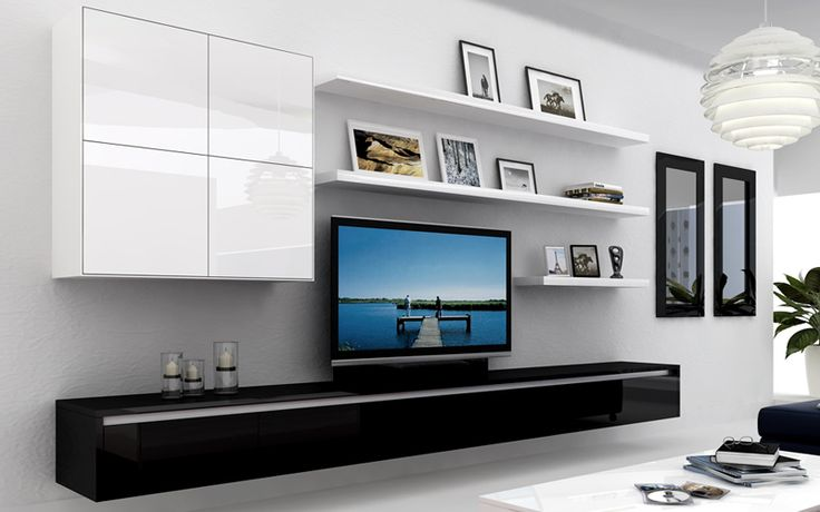 Sydneyside furniture tv units tv cabinets entertainment units floating cabinets floating for Floating tv stand living room furniture