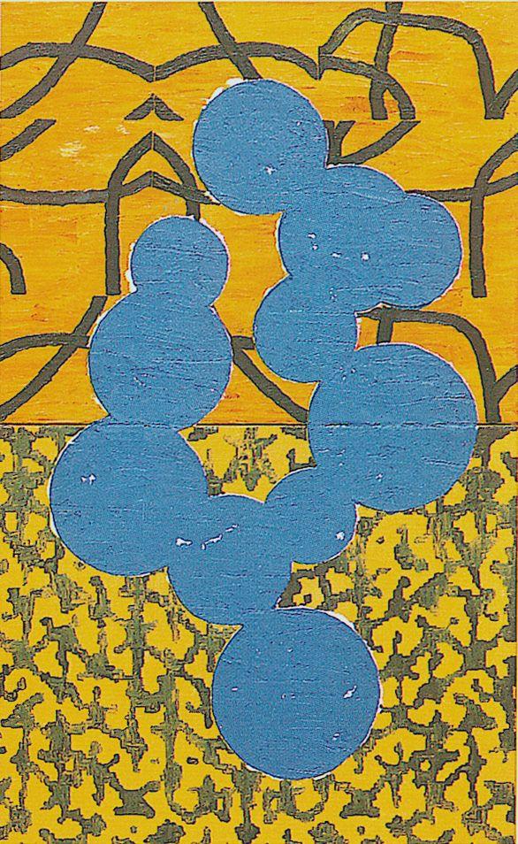 Mulasics László: Cím nélkül I. / Untitled I., 2001,  50 x 80 cm, olaj vászon / oil on canvas