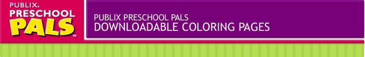 publix preschool pals coloring pages - coloring preschool and coloring sheets on pinterest