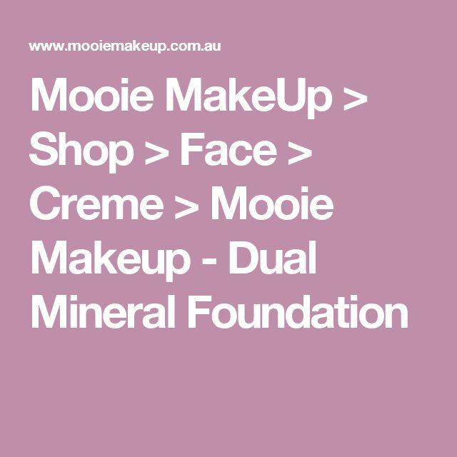 Mooie MakeUp > Shop > Face > Creme > Mooie Makeup - Dual Mineral Foundation