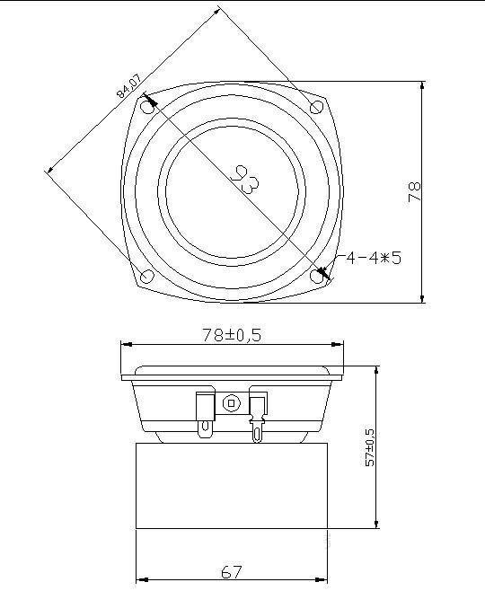 Guan Audio 3-inch woofer subwoofer speaker impedance 4/8