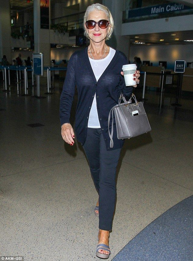 Stylish and chic: Helen Mirren continued to give Hollywood's younger generation of fashion...