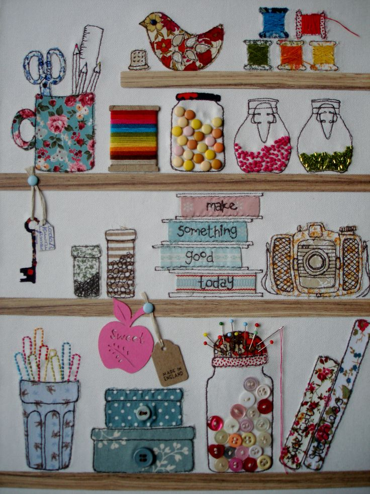 Make something good today by nic @ supercutetilly stitched artwork #supercutetilly