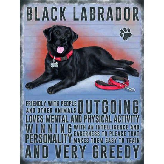 metalen muurplaat zwarte labrador 30 x 40 cm grote decoratie plaat voor aan de muur met een afbeelding van een zwarte labrador de wanddecoratie is ongeveer 30 x 40 cm en is gemaakt van metaal