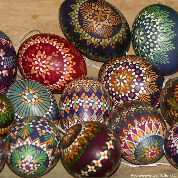 sorbian easter eggs, you create at Good Friday