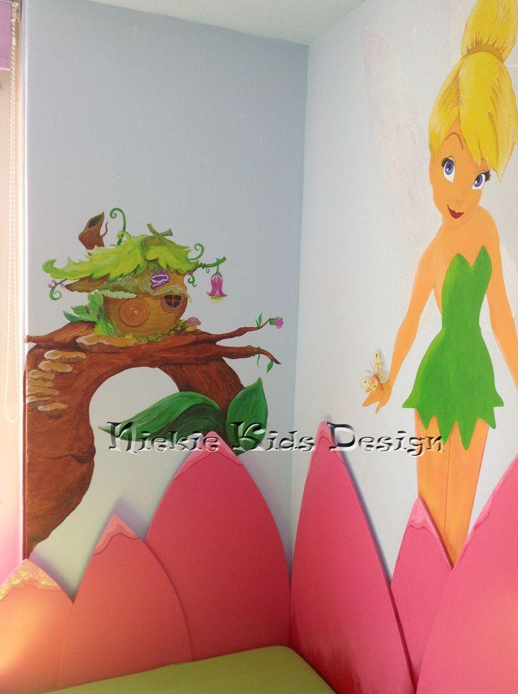 #muurschildering  #Tinkerbell #niekiekidsdesign #waterleliebed