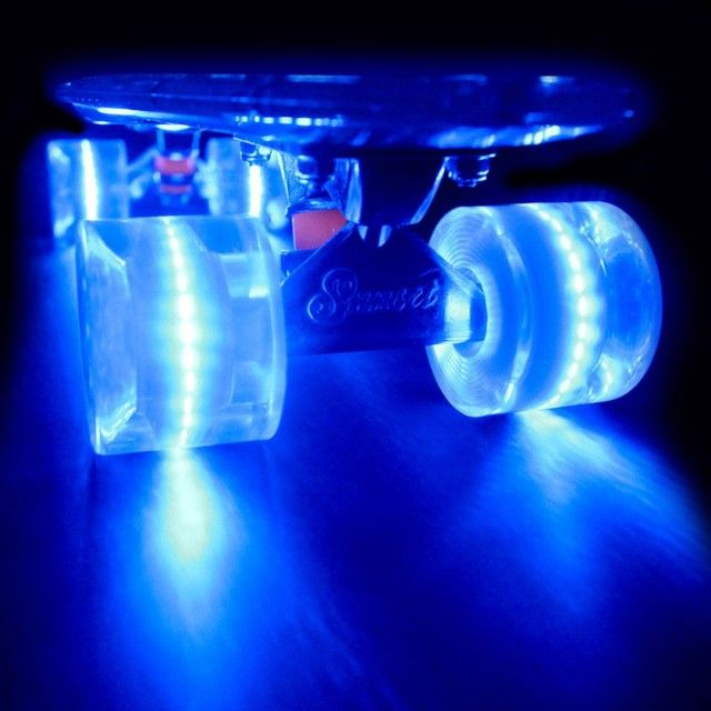 Colorful Skateboards With Battery-Free LED Wheels by Sunset Skateboard Company