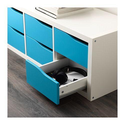 KALLAX Insert with 2 drawers - turquoise - IKEA