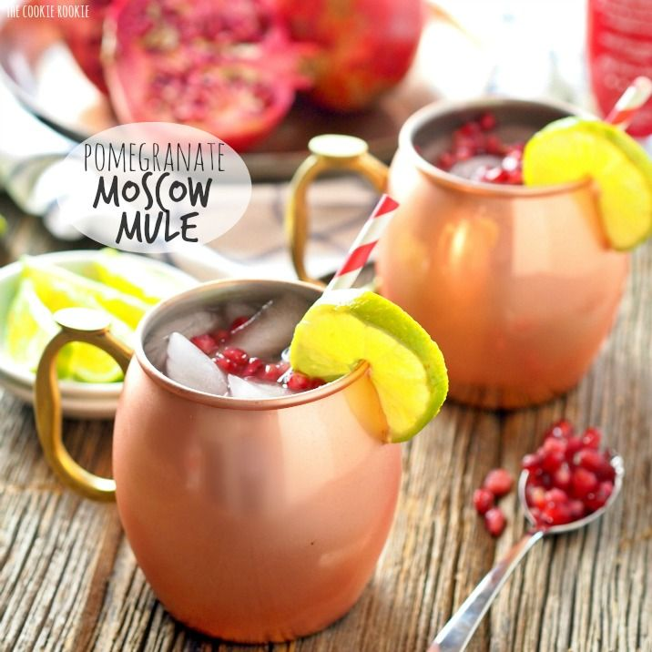 Pomegranate Moscow Mules are the perfect winter cocktail! Made with Pearl Pomegranate vodka, so delicious. Oprah's favorite drink!