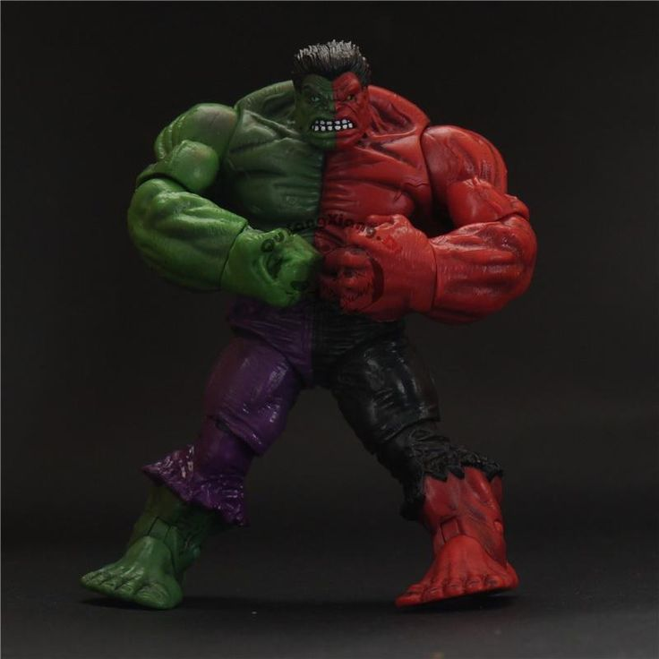 New York ComicCon Exclusive Marvel Universe Hero 3.75 Inch Toy:Limited edition Red&Green Hulk Action Figure Glasses