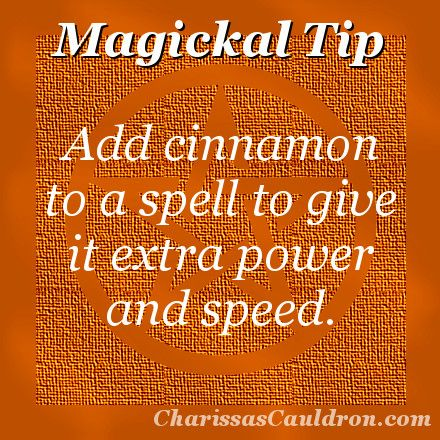 Magickal Tip - Cinnamon Power! – Charissa's Cauldron