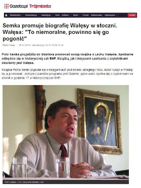 #SalaBHP #gazeta.pl #Wałęsa str.1 29.01.2014