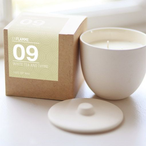 Enflamme Candle White Tea & Lime  - Object of Desire Shop