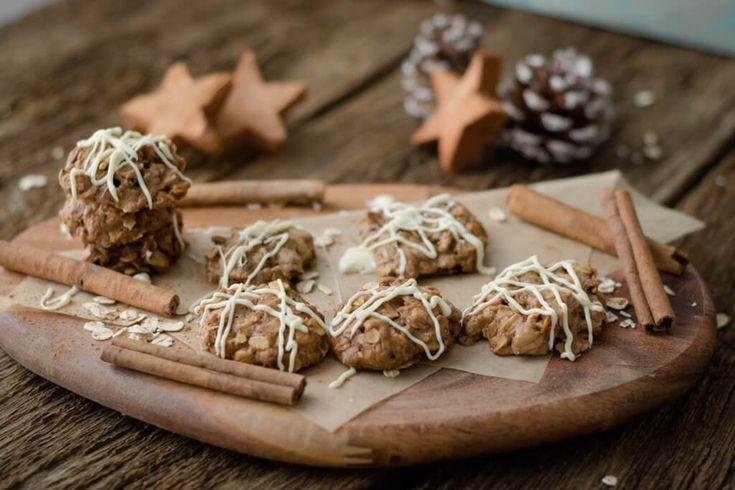 Weihnachten liegt in der Luft - Zimt Hafer Cookies - einfach & gelingsicher